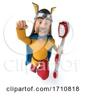 06/02/2020 - 3d Gaul Warrior On A White Background