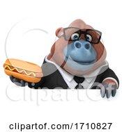 Poster, Art Print Of 3d Orangutan Monkey On A White Background