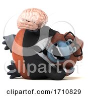 06/02/2020 - 3d Orangutan Monkey On A White Background