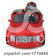 Poster, Art Print Of 3d Orangutan Monkey On A White Background