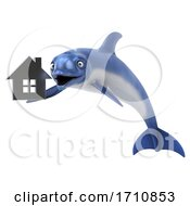 06/02/2020 - 3d Dolphin On A White Background