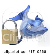 05/26/2020 - 3d Dolphin On A White Background