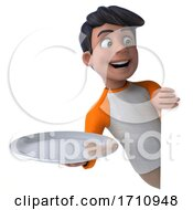 05/29/2020 - 3d Indian Boy On A White Background
