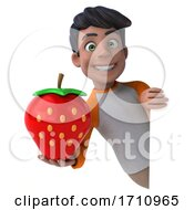 05/26/2020 - 3d Indian Boy On A White Background