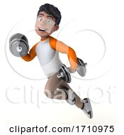 3d Indian Boy On A White Background by Julos