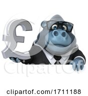 Poster, Art Print Of 3d Gorilla On A White Background