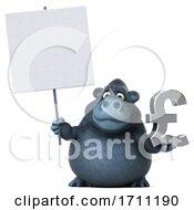 3d Gorilla On A White Background