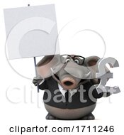 Poster, Art Print Of 3d Elephant On A White Background
