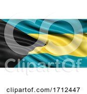 3D Illustration Of The Flag Of Bahamas Waving In The Wind