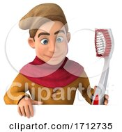 3d Medieval Man On A White Background by Julos