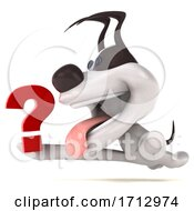 3d Jack Russell Terrier Dog On A White Background