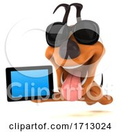 3d Puppy Dog On A White Background