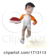 Poster, Art Print Of 3d Indian Boy On A White Background