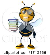 3d Business Bee On A White Background