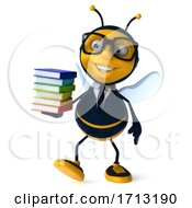 Poster, Art Print Of 3d Business Bee On A White Background