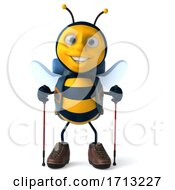 3d Hiker Bee On A White Background