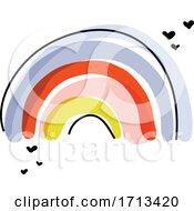 Artistic Vector Illustration Of Playful Rainbow