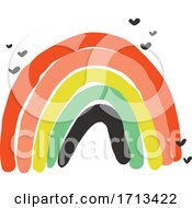 Creative Vector Illustration Of Playful Rainbow