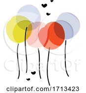 Poster, Art Print Of Creative Vector Illustration Of Multicolored Balloons