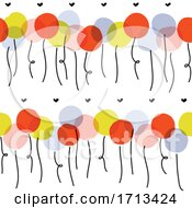 Poster, Art Print Of Seamless Pattern With Cute Multicolored Balloons