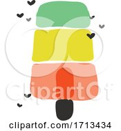 Poster, Art Print Of Creative Vector Illustration Of Multicolored Ice Cream