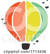 Creative Vector Illustration Of Multicolored Hot Air Balloon