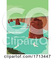 Twelve Apostles Limestone Stacks Off Port Campbell National Park
