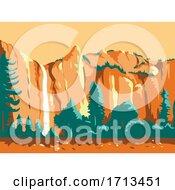 Bridal Veil Falls In Yosemite National Park
