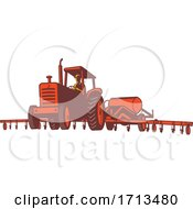 Poster, Art Print Of Tractor Pulling An Anhydrous Ammonia Or Nitrogen Tank