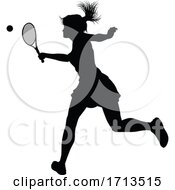 05/10/2020 - Tennis Silhouette Sport Player Woman