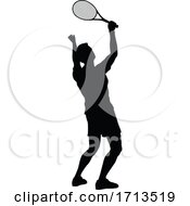 05/10/2020 - Tennis Silhouette Sport Player Man