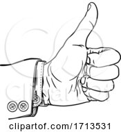 Poster, Art Print Of Hand Thumbs Up Gesture Thumb Out Fingers In Fist