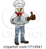 Eagle Chef Mascot Thumbs Up Cartoon Character