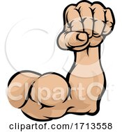 05/10/2020 - Muscular Cartoon Arm Bicep Muscle And Fist