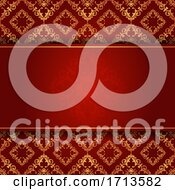 Elegant Background In Red And Gold
