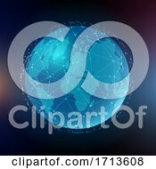 Poster, Art Print Of Abstract Global Communications Background
