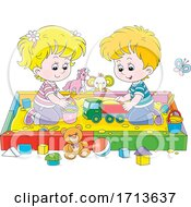 Children Playing In A Sand Box