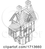 Town House Fantasy Vintage Tudor Building Map Icon