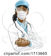 Doctor Woman In Medical PPE Mask by AtStockIllustration