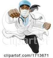 Doctor Woman Super Hero Medical Concept