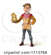 Poster, Art Print Of 3d Medieval Man On A White Background