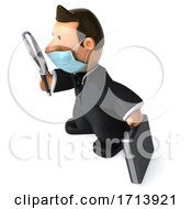 Poster, Art Print Of 3d Short White Businessman On A White Background