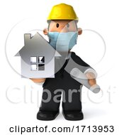 Poster, Art Print Of 3d Short Architect On A White Background