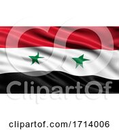 3D Illustration Of The Flag Of Syria Waving In The Wind
