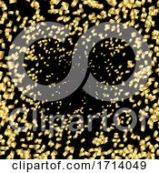 Celebration Background With Gold Confetti