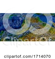 Poster, Art Print Of 3d Abstract Topographic Landscape With Extruding Cubes