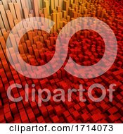 Poster, Art Print Of 3d Modern Background With Extruding Cubes