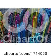 Poster, Art Print Of 3d Futuristic Landscape Of Shiny Cubes