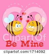 05/19/2020 - Bee Couple In Love Over Be Mine Text