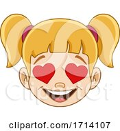 Blond Haired Girl With A Love Expression
